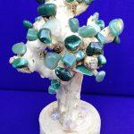 Fantazi ağac, yeşil, doğal taşlı